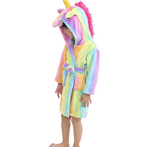 LANTOP Albornoz Suave Niños Cómodo Unicornio
