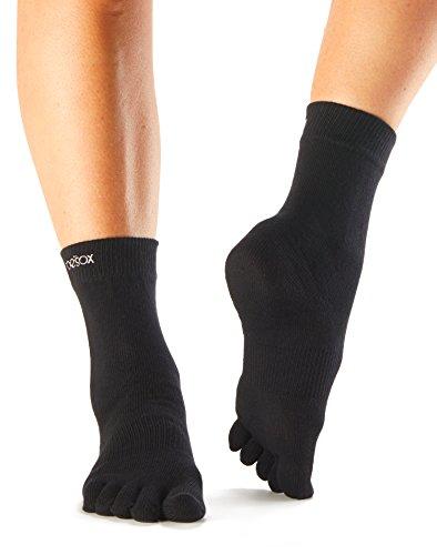 Toesox–Calcetines Toe Casual calcetines–1par, negro