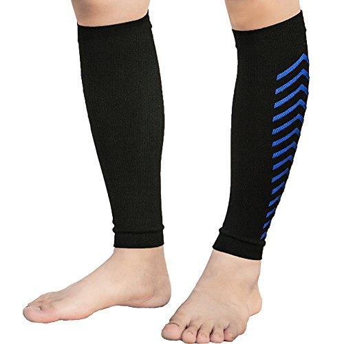 Senston 1 Paar Waden Kompressionsstrümpfe ohne Fuß - Steigerung der Blutzirkulation, Schmerzen lindern, Erholung - Wadenbandage Laufstrümpfe für Herren Damen Jugend Laufen Joggen Radfahren Fitness