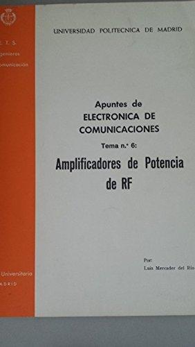 Electrónica de comunicaciones. Tema 6. Amplificadores de pontencia por Luis Mercader del Río