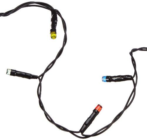 Star 498-51 LED-Stalactite, 144 L Couleur: Multicolore, Noir ca. 0,4 m x 4 m, avec transformateur et câble d'amorce de 10 m, extérieur Boite coloré