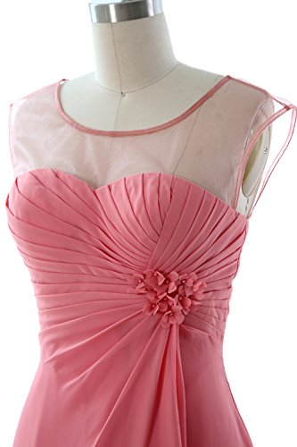 MACloth Women Short Bridesmaid Dress Cap Sleeve Cocktail Party Formal Gown Lavendel