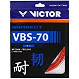 Victor VBS-70 (0.70mm x 10mm) Durability Medium Feeling Badminton String Available in 7 Different Color (Pack of 2)