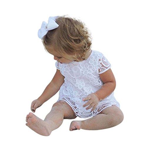 y Mädchen Kurzarm Sommerkleid Spitze Blumen Prinzessin Kleid Outfits (Süßeste Kleinkind Mädchen Kostüme)