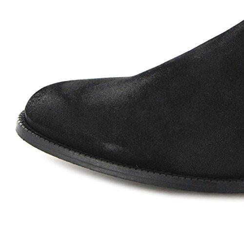 Fashion Boots Stiefel DEAN Schwarz Chelses Boot Serraje Negro