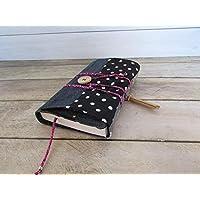 Protège livre fait main, couverture livre format poche, couvre livre en tissus 100% coton patchwork, cadeaux voyage, cadeau noël, cadeaux maitresse