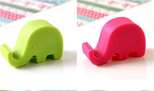 Hosaire 1X Supporto Stativo in Plastica,supporto per telefono cellulare,Gadget creativi, progettati per i pigri,verde elefante Rose