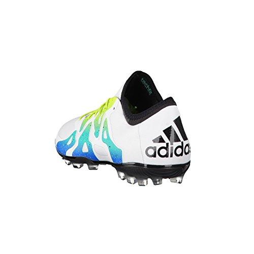 adidas Herren X 15.1 Ag Fußballschuhe, Bunt Weiß / Grün / Schwarz (Ftwbla / Seliso / Negbas)