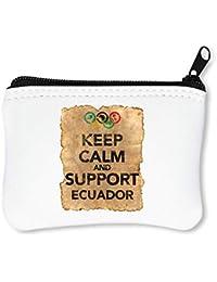 85e771244 Vintage Keep Calm Support Ecuador Billetera con Cremallera Monedero Caratera
