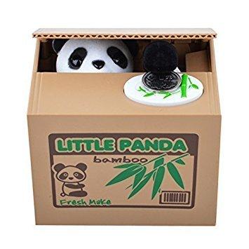 Hucha-caja de oso panda robamonedas