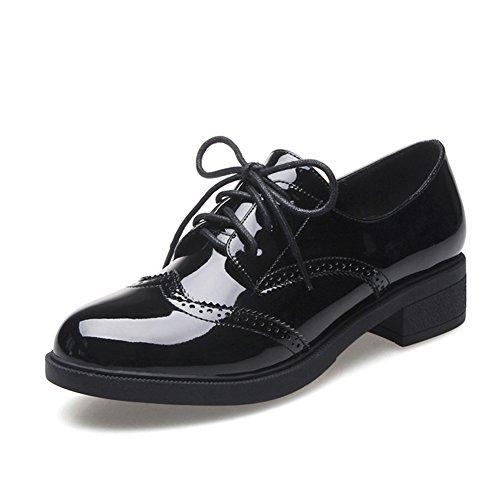 Ladies of England dans le vent de printemps épais avec des chaussures de dentelle profonde/chaussures en cuir/Chaussures de l'étudiant B