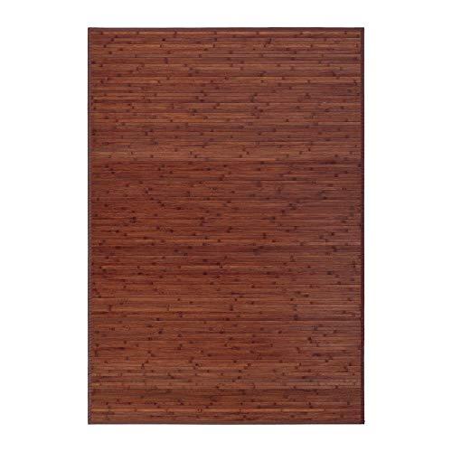 LOLAhome Factory - Alfombra de Bambú, Marrón, 140 x 200 cm