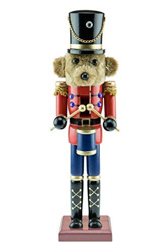 Toy Soldier Hüte - Clever Creations - Nussknacker als Trommler-Teddybär