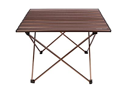 Trekology Portable Camping Table with Aluminum Table Top, Hard-Topped Folding Table in a Bag for Picnic, Camp, Beach, Useful for Dining, Cutting, Cooking with Burner & Easy to Clean produced by Trekology - quick delivery from UK.