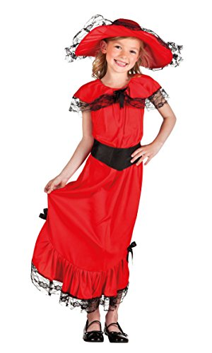 Kinderkostüm Scarlet (Scarletts Rotes Kleid Kostüm)