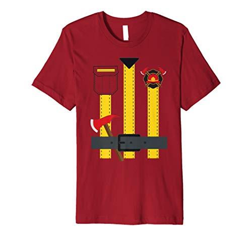 Feuerwehrmann Uniform Kostüm T-Shirt Lustig Halloween