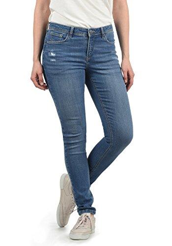 BlendShe Adriana Damen Jeans Denim Hose Röhrenjeans Aus Stretch-Material Mit Destroyed-Look Skinny Fit, Größe:S, Farbe:Light Blue Denim (29030)