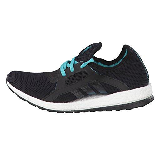 adidas Pureboost X, Chaussures de Running Entrainement Mixte Adulte Multicolore - Negro / Verde (Negbas / Verimp / Negbas)