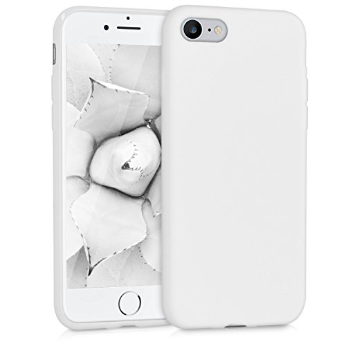 Kwmobile apple iphone 7/8 cover - custodia per apple iphone 7/8 in silicone tpu - backcover protezione bianco matt