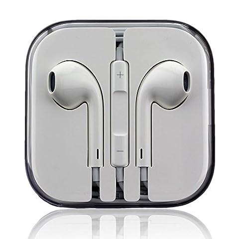 Apple EarPods mit Fernbedienung und Mikrofon - iPhone 3Gs, iPhone 4, iPhone 4s, iPhone 5, iPhone 5c, iPhone 5s, iPhone 6, iPhone 6 Plus - bulk