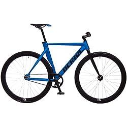 bicicleta fixie aluminio derail rd42 L 55 azul/negra