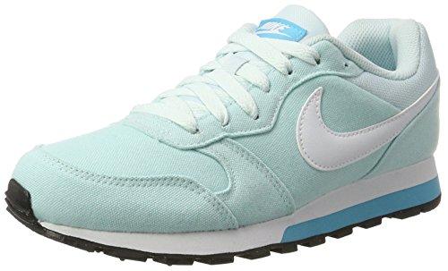 Nike Damen WMNS MD Runner 2 Sneaker, Blau (Glacier Chlorine Blue/White), 37.5 EU