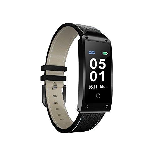 komise Colorful Bildschirm Blut Druck/Herz-Armband Smart Watch Armband Sport wasserdicht Armband Einheitsgröße schwarz (Taschenrechner, Druck-und Display)
