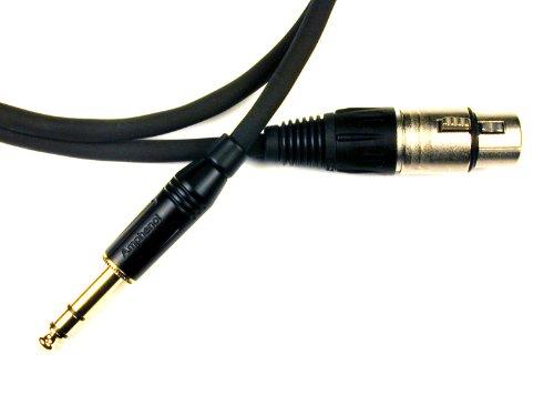Conquest USA blcfn 30Symmetrisches Line Kabel 30Fuß Neutrik XLR weiblich auf Amphenol 1/10,2cm schwarz/gold Plug (Line Kabel Symmetrisches)