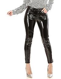 La Modeuse Pantalon femme vinyle doublé en molleton