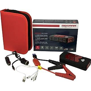 Absaar Autostarthilfe 14.000mAh 12V-Lithium-Starthilfegerät Powerbank Jump Starter - Gratis Lipo Safe Schutztasche