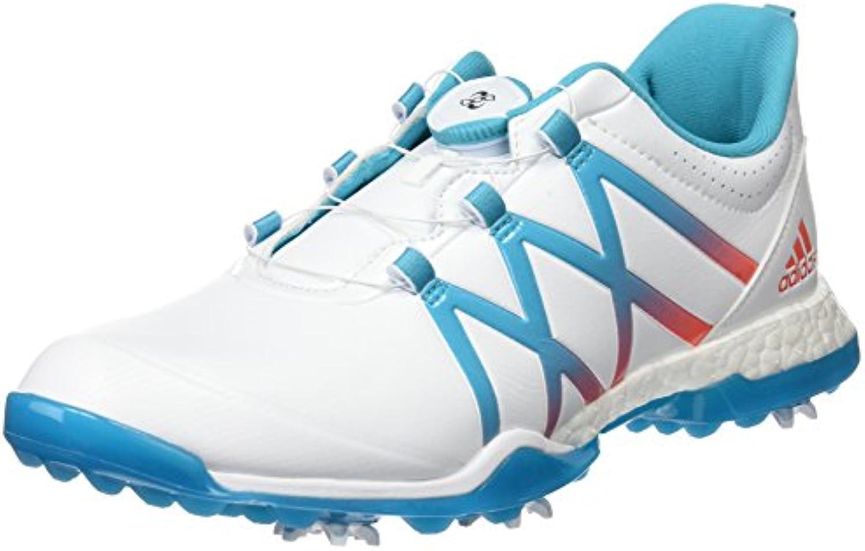 Adidas W Adipower Boost Boa, Zapatos de Golf para Mujer, Multicolor (Blanco/Azul/Coral), 42 2/3 EU
