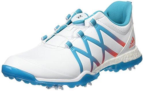 adidas W Adipower Boost Boa Scarpe da Golf, Donna, Donna, W Adipower Boost Boa, Bianco/Blu/Corallo