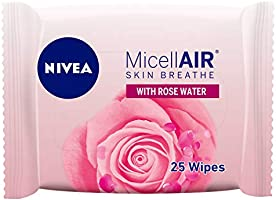 NIVEA, Face, Wipes, MicellAIR Rose Water, 25 Wipes