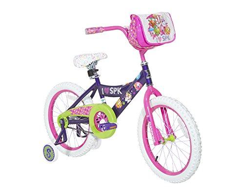 Shopkins Dynacraft Bicicleta de Calle para niña (45,7 cm), Color Morado, Rosa, Verde y Blanco