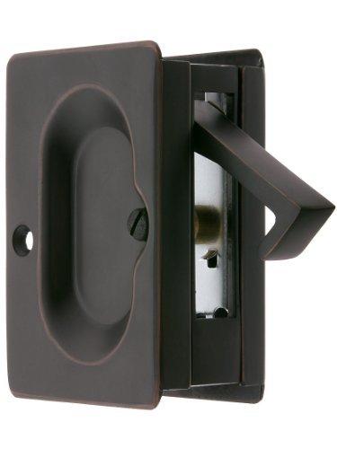Premium Quality Mid-Century Pocket Door Passage Set In Oil-Rubbed Bronze. Pocket Door Hardware. by Emtek -