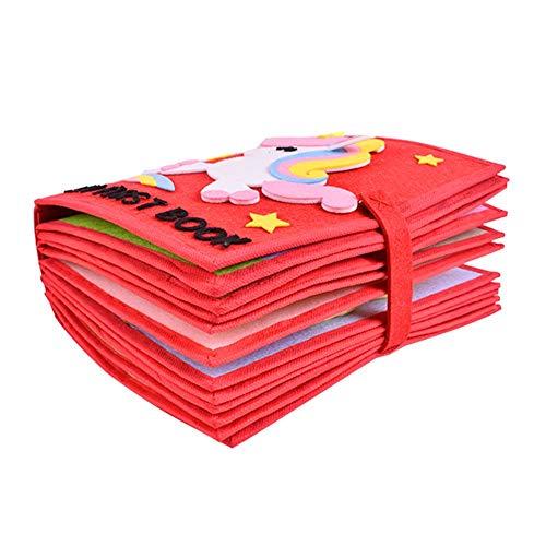 SUPERLOVE Baby Tuch Buch,Weiche Baby Tuch Aktivität Crinkle Book Set Stoff Ungiftig Früherziehung Spielzeug Dusche Geschenke für Baby (Baby-dusche Baby-bücher Für)
