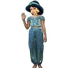Primark Disfraz niña Jasmine Aladín Disney Oficial con Diadema ...