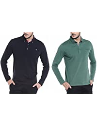 Dream Of Glory Inc. Men's Branded Full Sleeve Cotton Polo Neck Buttoned Collar And Pocket In Plus Sizes T Shirts...