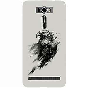 Casotec Eagle Paint Design 3D Hard Back Case Cover for Asus Zenfone 2 laser ZE601KL