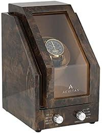 Single Watch Winder in Dark Burl Wood Premier - Range by Aevitas