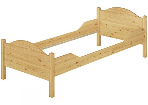 Erst-Holz® Stabiles Bettgestell Kiefer Natur 90x200 Einzelbett ohne Rollrost Jugendbett 60.30-09 oR -