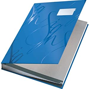 Leitz Design Signature Book with 18 Card Dividers, A4, Blue, 57450035