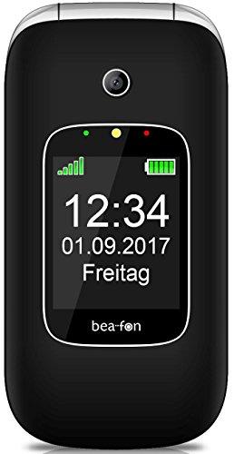"""Beafon Handy im Klappdesign """"SL590"""" (Bluetooth, Freisprechfunktion) Schwarz"""