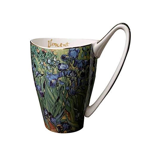 Vincent Van Gogh Bone China Tee Tassen-Set mit Geschenk-Box, Art Kaffee Tassen lichtgrün - Bone China-box
