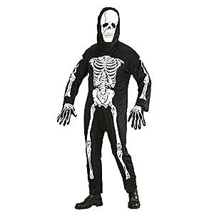 WIDMANN Widman - Disfraz de esqueleto de halloween para hombre, talla S (39281)