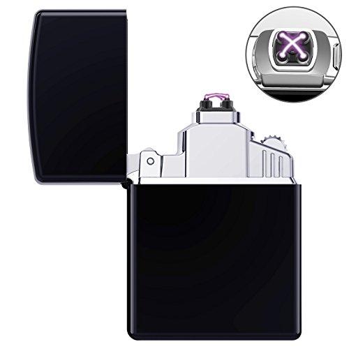 AngLink Elektronisches Feuerzeug Tragbar USB Aufladbar Lichtbogen Tragbar