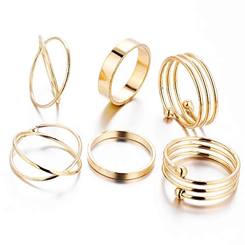6 Teile/Satz Heißer Korea Persönlichkeit Retro Legierung Zehenring Gold Farbe Joint Ring Fuß Ornamente ()