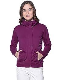 Purys Pink Fleece Buttoned Sweatshirts