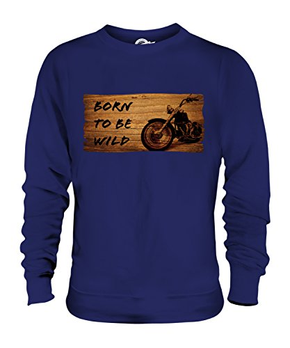 Candymix - Born to Be Wild Motorbike - Unisex Sweatshirt Mens Ladies Sweater Jumper Top