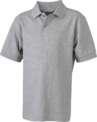 James & Nicholson Herren Poloshirt Grey Heather